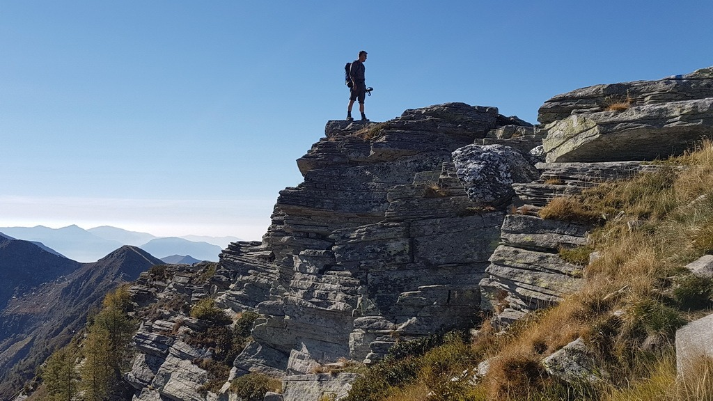 Via Alta Vallemaggia: Rifugio Alpe Masnée – Cimetta (Cardada)