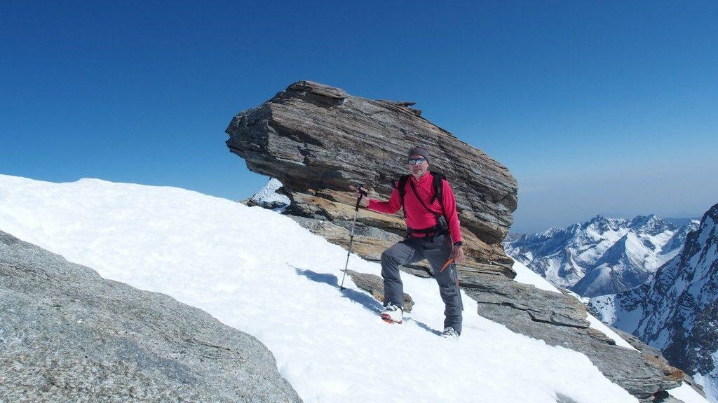 Gipfel der Ouille d'Arbéron, Haute Maurienne, F. Chregu. 25.3.2019