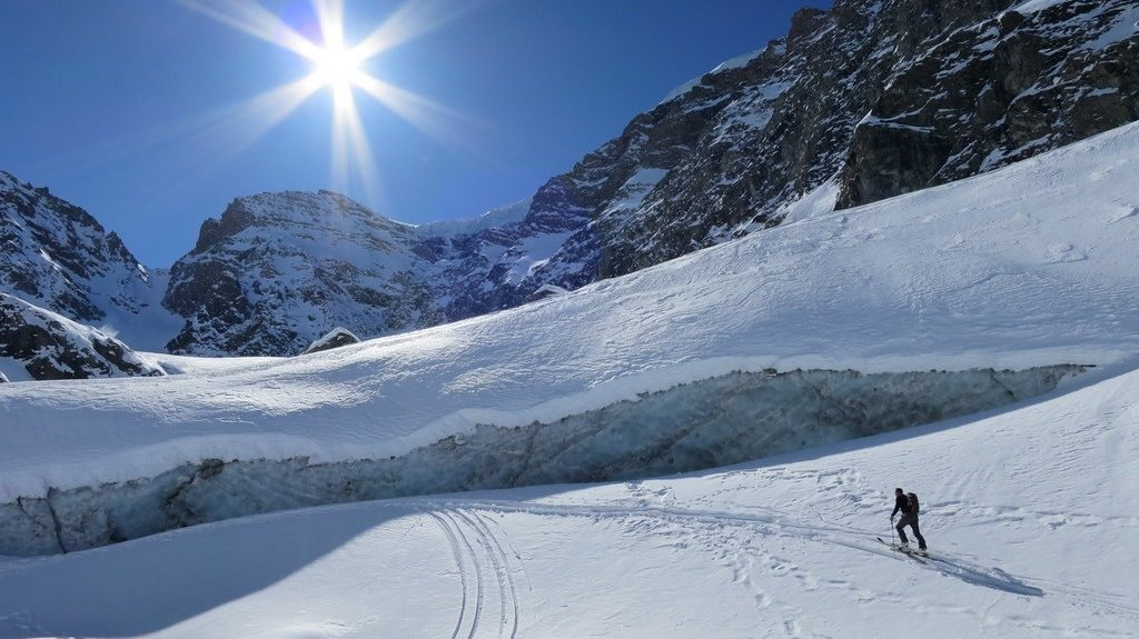 Gletscherende des Glacier Inférieur du Vallonnet. Haute Maurienne, F 30.3.2019