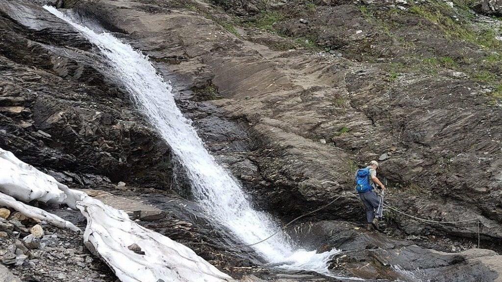 Im Abstieg vom Gitschen zur Musenalp gilt es einige Bäche zu queren. 6.7.2019