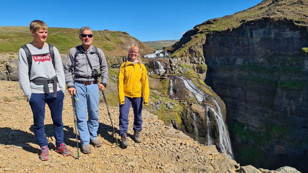 Island: Glymur Wasserfall